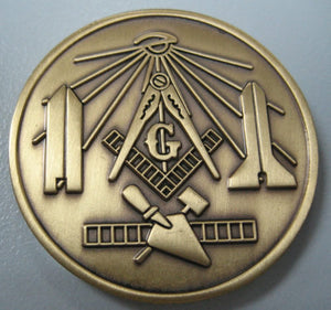 D9949 Masonic Antique Gold Coin