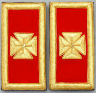 D7059 Shoulder Boards Grand Commander (PAIR) MYLAR