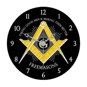 D9926BLACK Masonic Wall Clock