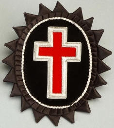 D7063 Rosette for Chapeau - Sir Knight Chapeau Cross in Mylar