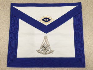 D2565 Apron Past Master Hand Embroidered Bullion 14 x 16 REAL LEATHER
