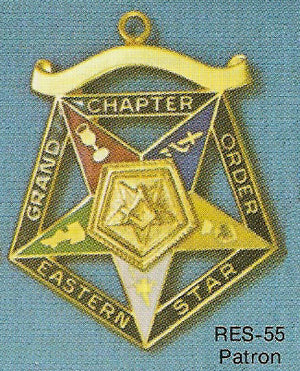 DRES-55 OES Grand Chapter Patron Jewel