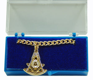DL7200-PM Tie Chain Masonic Past Master Gold Platted
