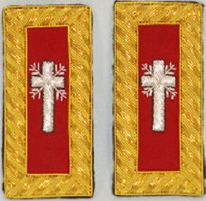 D7047 Shoulder Boards Past Commander (PAIR) BULLION