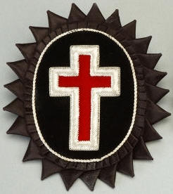 D7062 Rosette for Chapeau - Sir Knight Chapeau Cross in Bullion