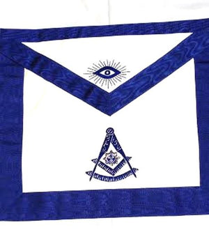 D2560-S Past Master Apron (Bullion)  14 x 16 REAL LEATHER