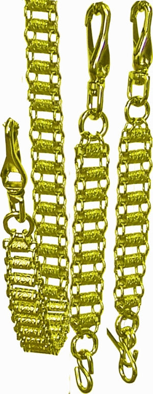 RKT38GP Chains for sword, Set of 3 Gold Plated