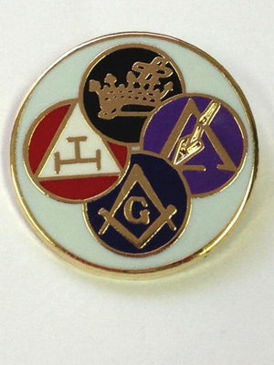 D324 Lapel Pin York Rite White