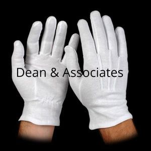 D2150 Gloves Wrist Snap White Cotton ( 1 DOZEN )