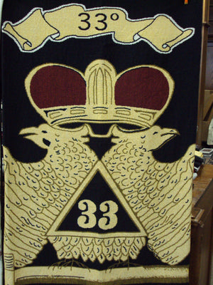 D8352 Throw Tapestry Masonic Scottish Rite 33rd Degree
