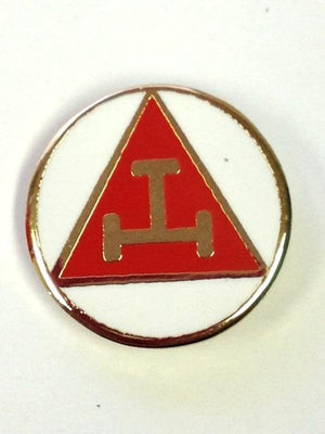 D327 Lapel Pin Chapter Triple Tau White Round