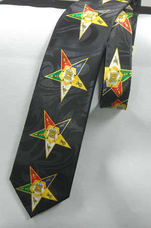 D0174 OES Polyester Neck Tie Black