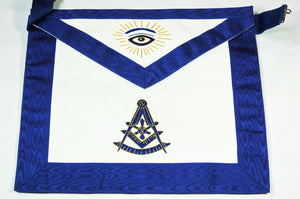 D2560-G Past Master Apron (Bullion)  14 x 16 REAL LEATHER