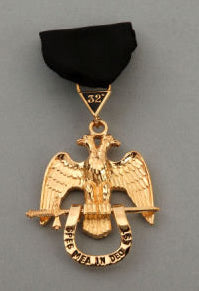RSR5 Scottish Rite 32nd Degree Jewel Wings Down