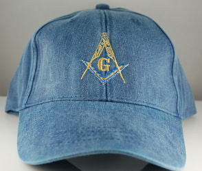 D9992 Blue Cotton Cap with S & C