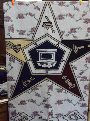 D8351 Throw Tapestry Order of Eastern Star OES