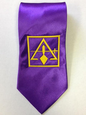 D0199 York Rite Council Tie EMBROIDERED