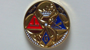 D236 Lapel Pin Masonic York Pite Gold