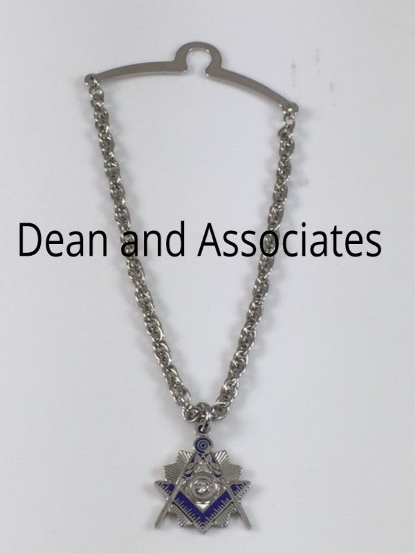 D520-S Necklace Masonic Square & Compass Silver Plated