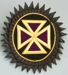 D7068 Rosette for Chapeau - Past Grand Commander in Mylar