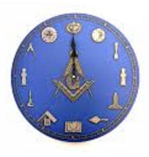 D9926TOOLS Masonic Wall Clock w/working tools
