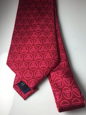 D2148 Tie Chapter (Red) 100% Silk
