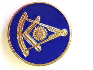 D1974 Lapel Pin Past Master Round