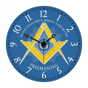 D9926BLUE Masonic Wall Clock