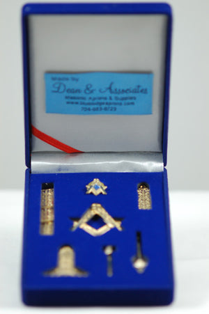 D9997 Masonic Miniature Working Tools Set (Antique Gold)