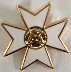 D1969 Lapel Pin Knight of Malta Cross