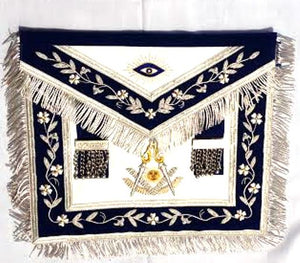 D2717-SQ Apron Past Master (Bullion) 14 x 16 REAL LEATHER