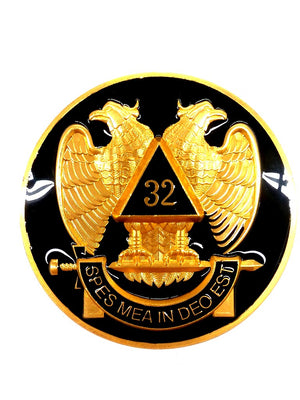 D575SR32-Black Emblem Auto Scottish Rite 32nd Black ( Special Deal Quantities)
