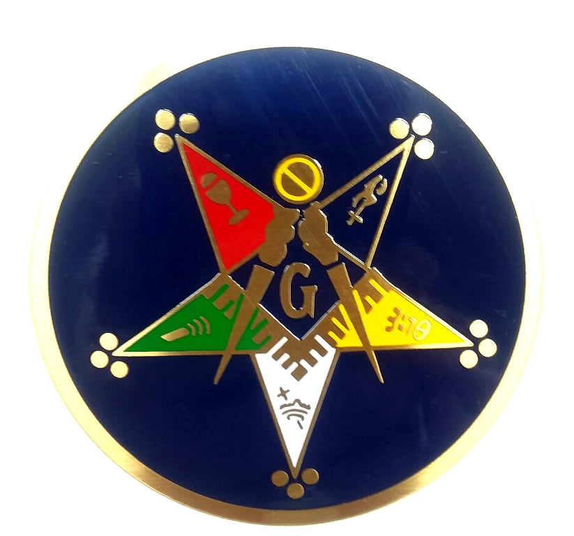 3 Diameter Order of the Eastern Star Patron Masonic Round Blue Auto Emblem