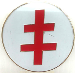 D575IGH Emblem Auto Scottish Rite 33rd Cross Die Struck