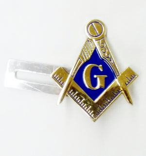 D575SC-B Masonic License Plate Bracket S&C Gold/Blue