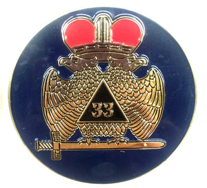 D575SR-2 Emblem Auto Scottish Rite 33rd Blue Die Struck