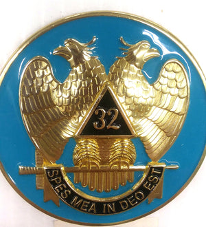 D575SR Emblem Auto Scottish Rite Light Blue Die Struck