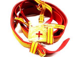 D6505 Belt for Sword Past Commander Red & Gold w/ Buckle and Straps