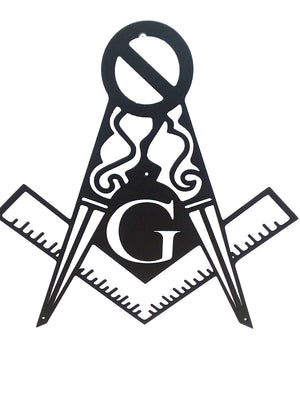 Sign Metal Masonic 14 Gauge Steel S&C Fancy