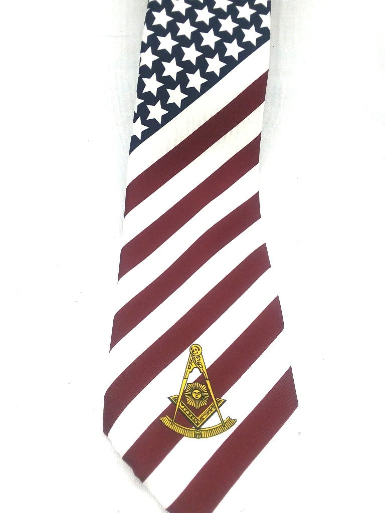 D9744 Tie American Flag PM Screenprint
