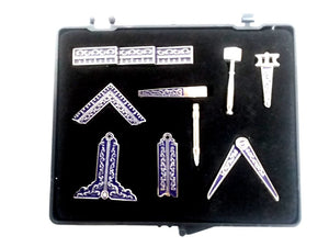 D001WT Masonic Miniature Working Tools Silver/Blue