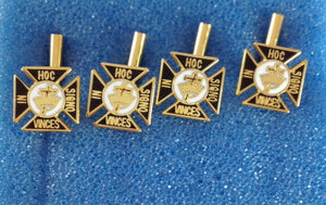 D9908 Shirt Stud Set Knights Templar Gold