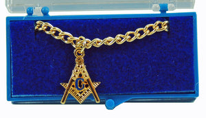 DL7200-M Tie Chain Masonic S&C Cutout Gold