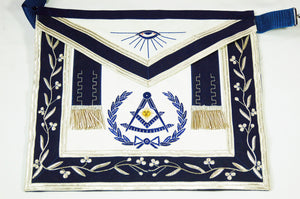 D2518 Apron Past Master (Bullion) 14 x 16 REAL LEATHER