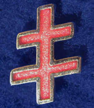 D328 Lapel Pin 33rd Degree IGH Cross