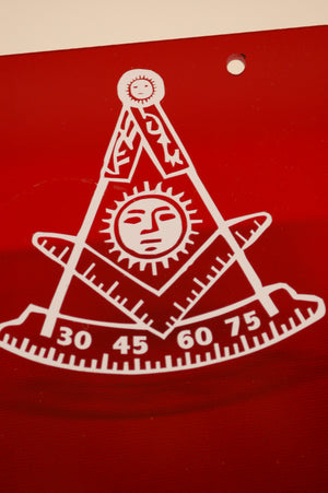 D1899 Masonic Past Master Tail Light Decals 2 pieces (small)