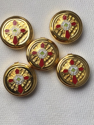 D9916 Button Covers KCCH Knight Commander Court of Honor Scottish Rite