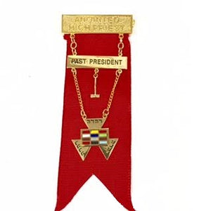 D15333 Jewel Anointed High Priest w/Past President Bar/Ribbon