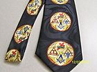D111 Tie York Rite with Symbolic Symbols