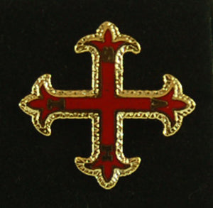 D391 Lapel Pin Red Cross of Constantine Member 3/4""